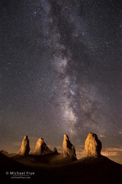 Pinnacles and the Milky Way, Trona Pinnacles National Natural Landmark, CA, USA