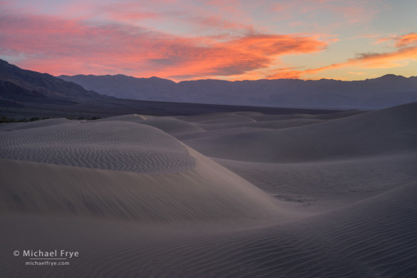 Dunes at sunset, Death Valley NP, CA, USA