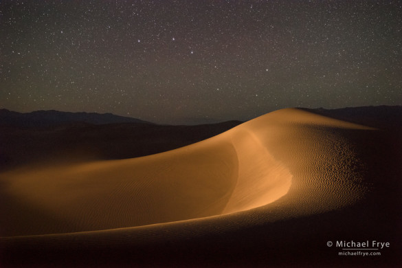 Sand dunes and the Big Dipper, Death Valley NP, CA, USA (light-painted)