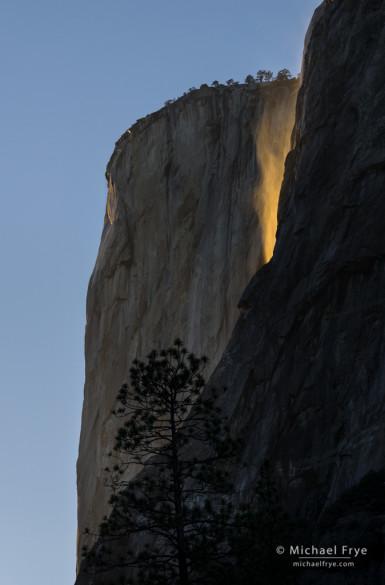 Windblown Horsetail Fall, Yosemite NP, CA, USA