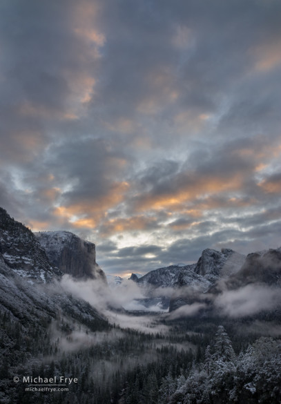 Sunrise from Tunnel View, Yosemite NP, CA, USA