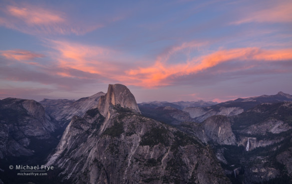Half Dome from Glacier Point at sunset, Yosemite NP, CA, USA