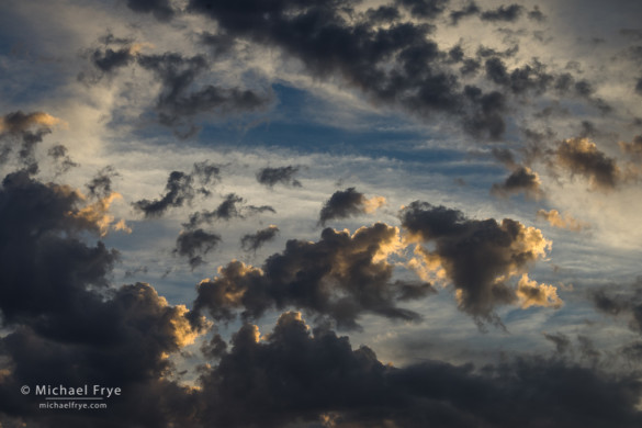 Sunset clouds, Mariposa County, CA, USA
