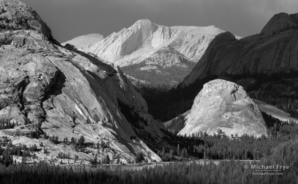 Mt. Conness, Polly Dome, Pywiack Dome, and Tenaya Lake from Olmsted Pt., Yosemite NP, CA, USA
