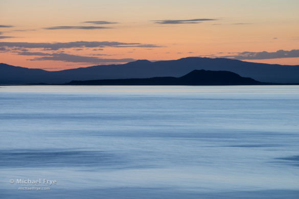 Negit Island at sunrise, Mono Lake, CA, USA