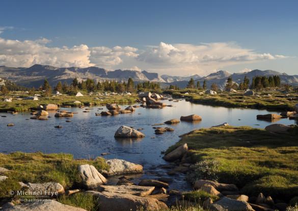 High-mountain tarn, Yosemite NP, CA, USA