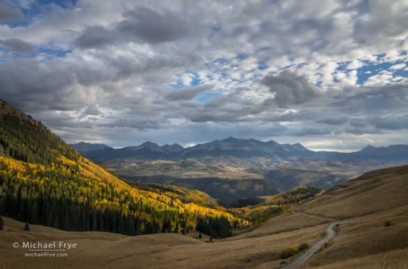 Autumn afternoon in the mountains near Telluride, CO, USA