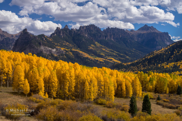Aspens and Turret Ridge, Uncompahgre NF, CO, USA