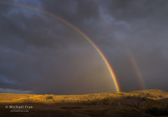 Double rainbow, Wilson Mesa, CO, USA