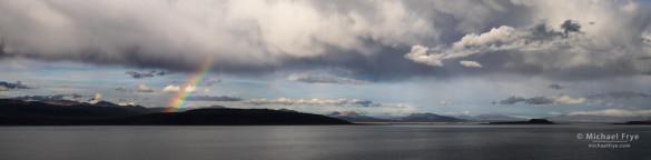 Rainbow over Black Point, Mono Lake, CA, USA