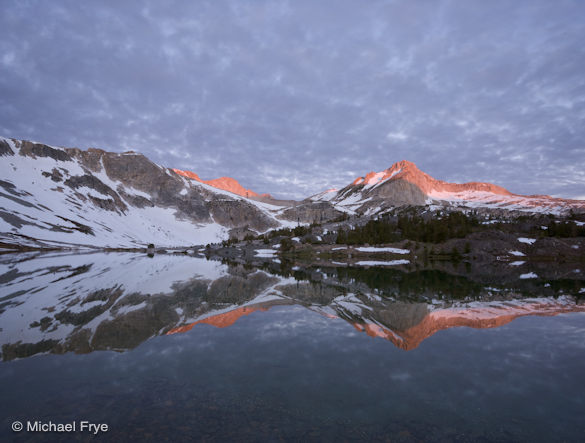 North Peak and Greenstone Lake, sunrise
