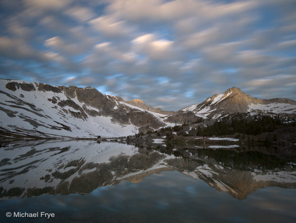 Fast-moving clouds above Greenstone Lake