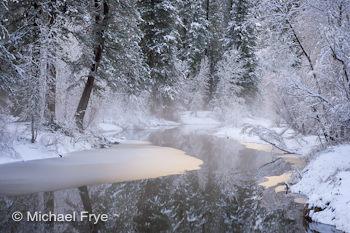 Winter morning along the Merced River, Yosemite