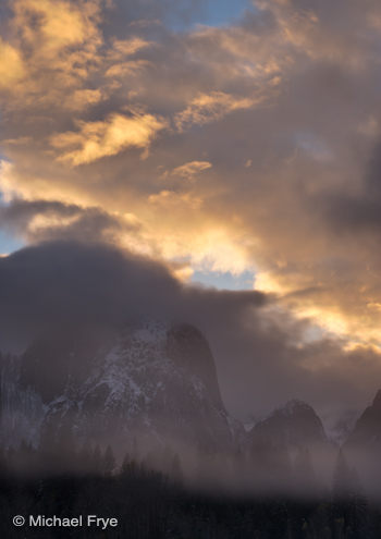 Sunset clouds over Cathedral Rocks yesterday evening