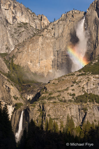 Rainbow, Upper and Lower Yosemite Falls, December 13th 2010