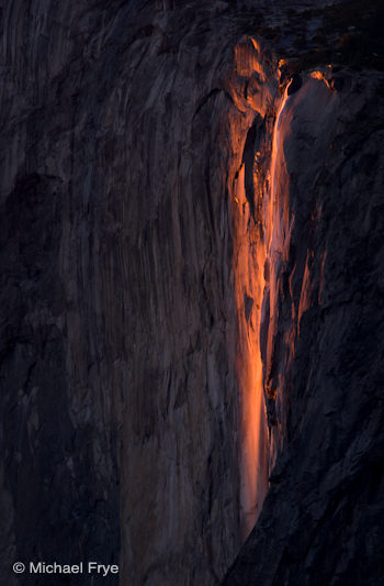 Horsetail Fall at sunset, February 11th