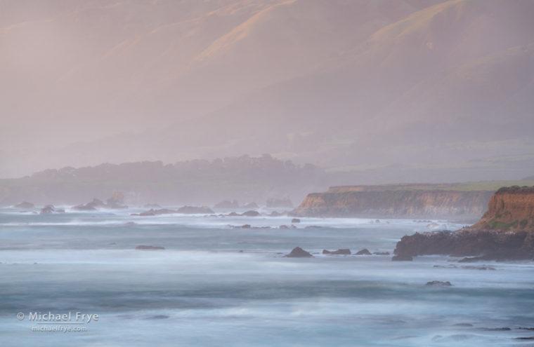 Pacific coast near San Simeon, CA, USA