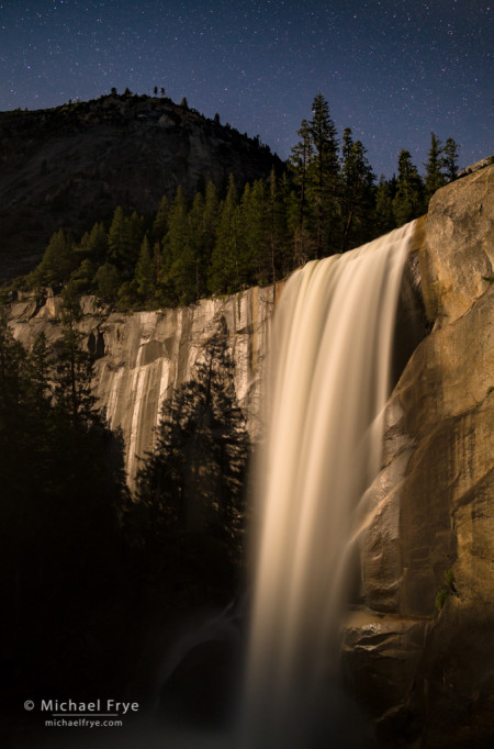 Vernal Fall by moonlight, Yosemite NP, CA, USA