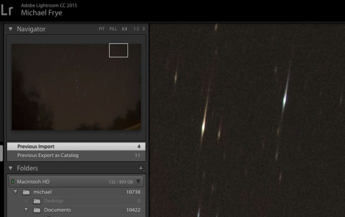 With SharpStar2, off-center, in-focus stars become elongated single spikes