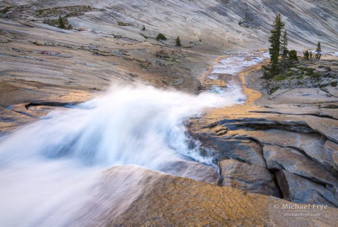 Creek cascading through a granite bowl, Yosemite NP, CA, USA