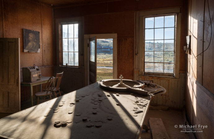 Morning light in the Sam Leon Bar, Bodie State Historic Park, CA, USA
