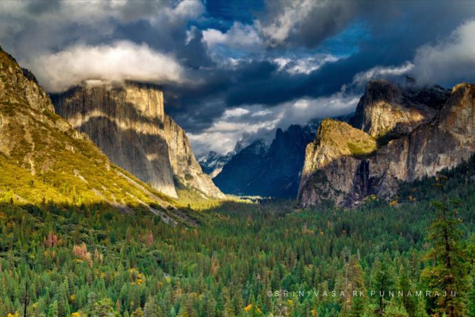Yosemite Valley View by Srinivasa Punnamraju