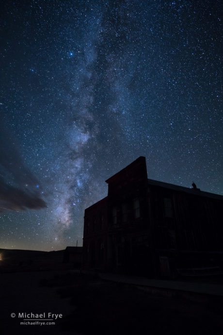 The background image of the Milky Way