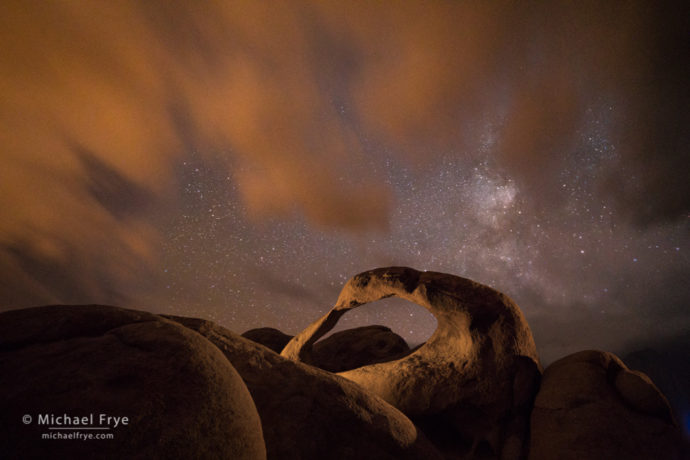 Mobius Arch at night, Alabama Hills, CA, USA