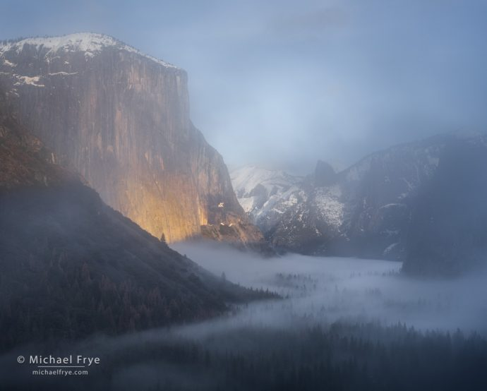 5. Yosemite Valley through the mist from Tunnel View, Yosemite NP, CA, USA