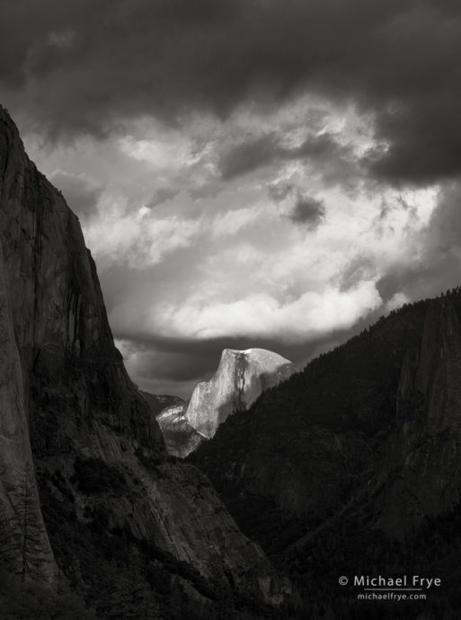 18. Half Dome and clouds, late afternoon, Yosemite NP, CA, USA