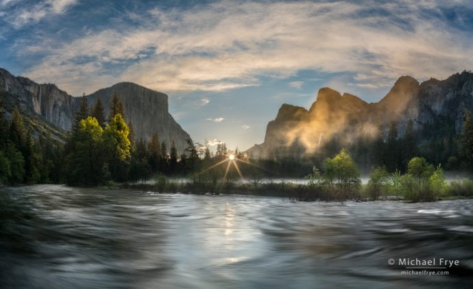 20. Spring sunrise, Gates of the Valley, Yosemite NP, CA, USA