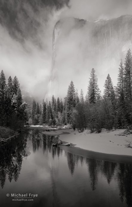 43. Clearing storm, El Capitan and the Merced River, Yosemite NP, CA, USA