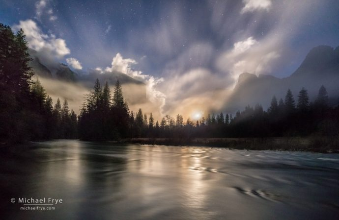 45. Moonrise from Gates of the Valley, Yosemite NP, CA, USA