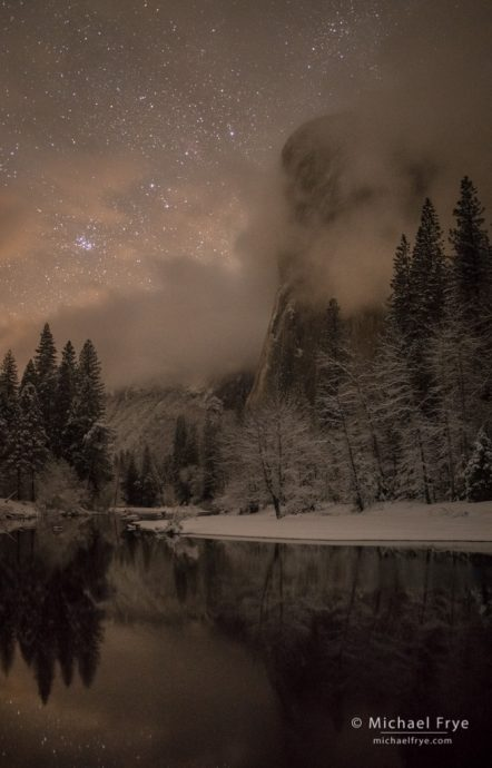 8. El Capitan at night with the Pleiades, Yosemite NP, CA, USA