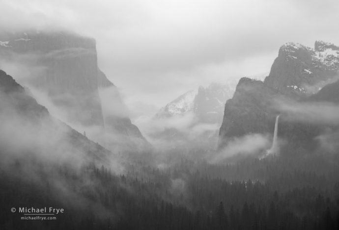 Misty afternoon, Tunnel View, Yosemite NP, CA, USA
