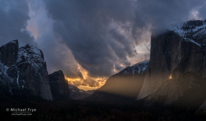Sunbeam on El Capitan, Yosemite NP, CA, USA