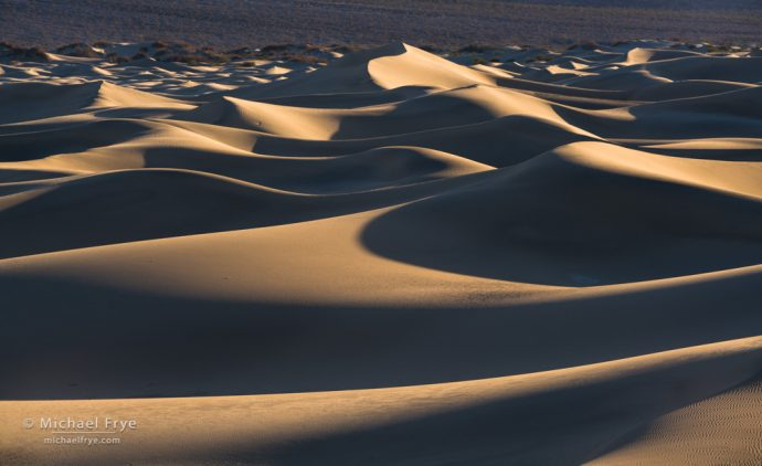 Waves, Mesquite Flat Dunes, Death Valley NP, CA, USA