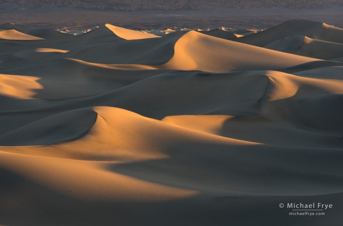 Sand dunes at sunrise, Death Valley NP, CA, USA