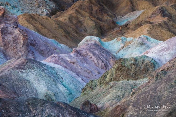 Forms and colors at Artist's Palette, Death Valley NP, CA, USA