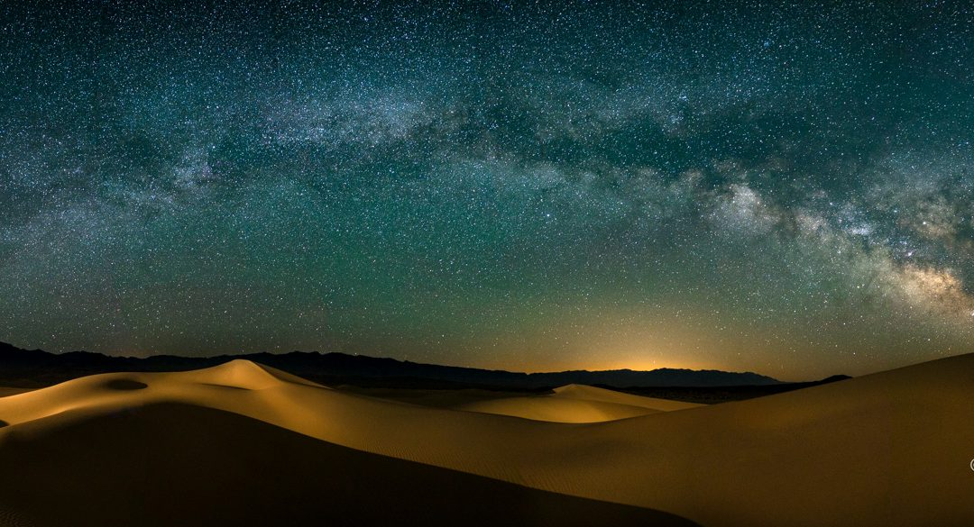 Death Valley under the Moon and Stars