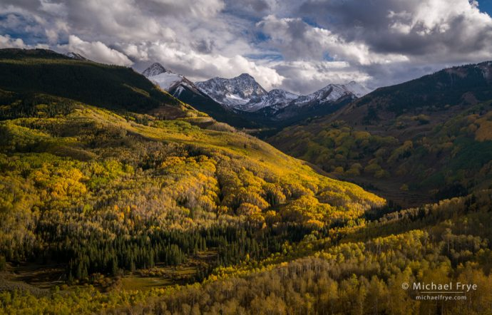 Colorado Autumn Color: Aspens below Capital Peak, White River NF, CO, USA