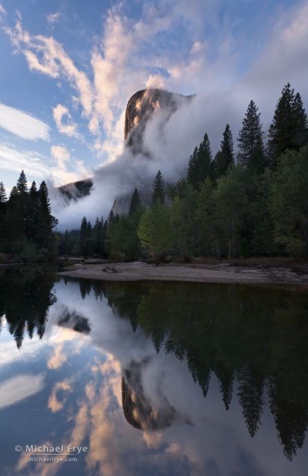 Cloud formations, El Capitan and the Merced River, Yosemite NP, CA, USA