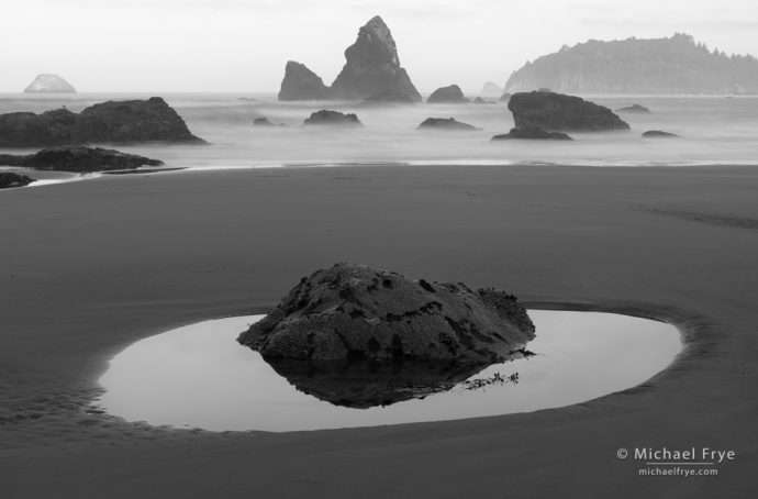 Sea stacks near Trinidad, CA, USA