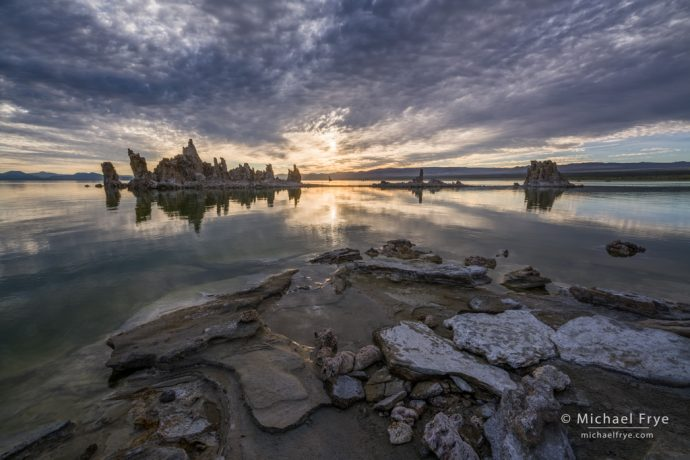 Morning light and clouds, Mono Lake, CA, USA