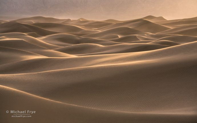 9. Wind and sand, Mesquite Flat Dunes, Death Valley NP, CA, USA