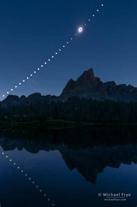 25. Solar eclipse sequence, Sawtooth Mountains, ID, USA
