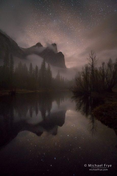Three Brothers at night, Yosemite NP, CA, USA
