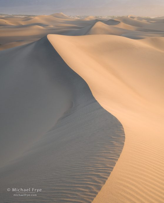 Sand Waves:Dune forms, Mesquite Flat Dunes, Death Valley NP, CA, USA