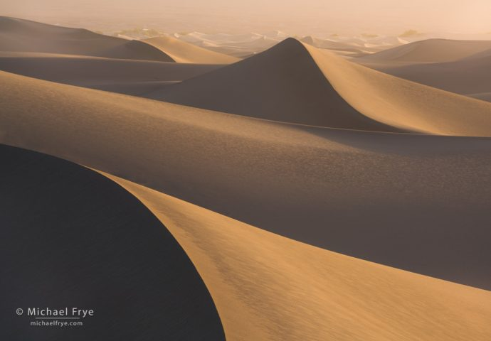 Abstract Vision: Sand waves, Mesquite Flat Dunes, Death Valley NP, CA, USA