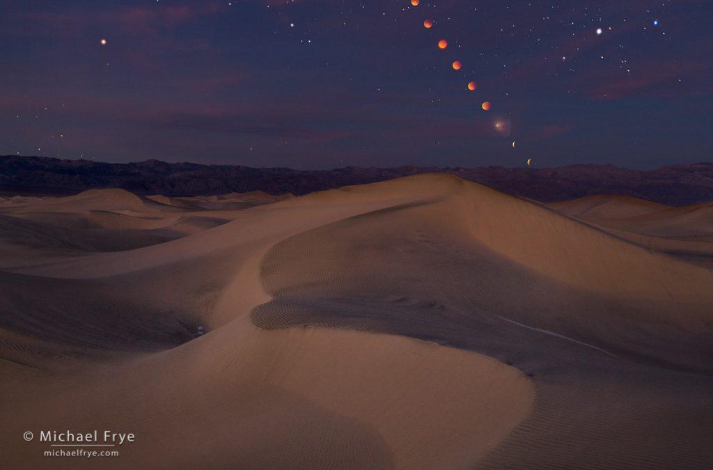 Lunar Eclipse over Death Valley